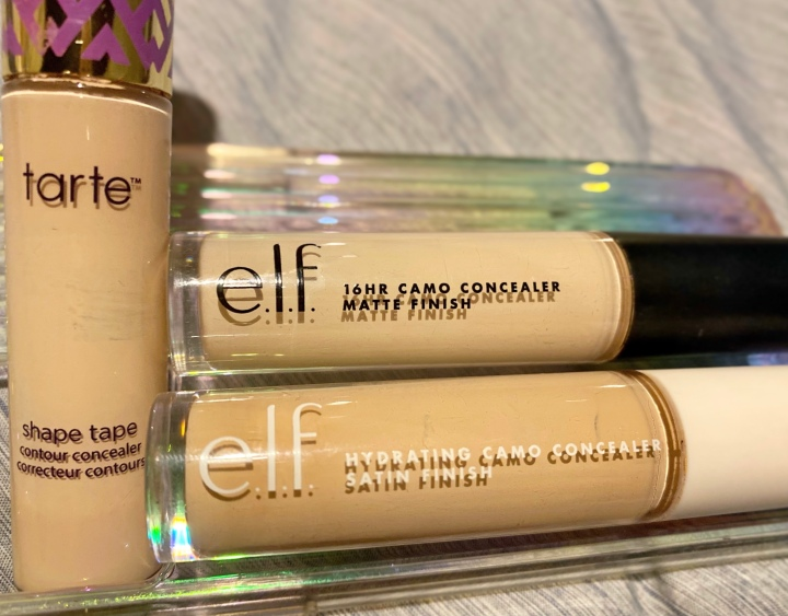 Tarte Shape Tape Concealer VS. Elf Hydrating Camo Concealer